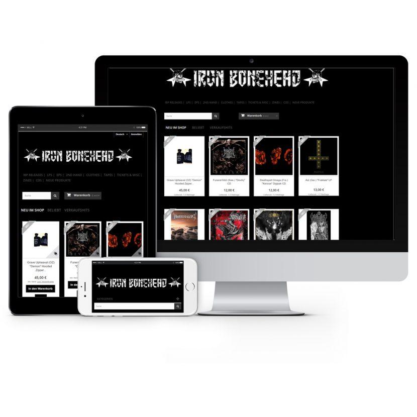 Iron Bonehead Webshop (Prestashop)